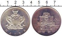 Изображение Монеты Мальта 4 фунта 1974 Серебро UNC Ворота  Котонера