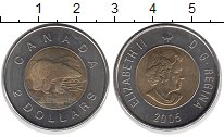 Изображение Монеты Канада 2 доллара 2005 Биметалл UNC-