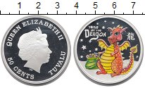 Изображение Монеты Тувалу 50 центов 2012 Серебро Proof Год дракона