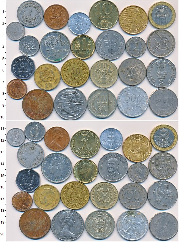 Изображение Лоты монет для начинающих нумизматов Монеты стран мира Лот №01322 0