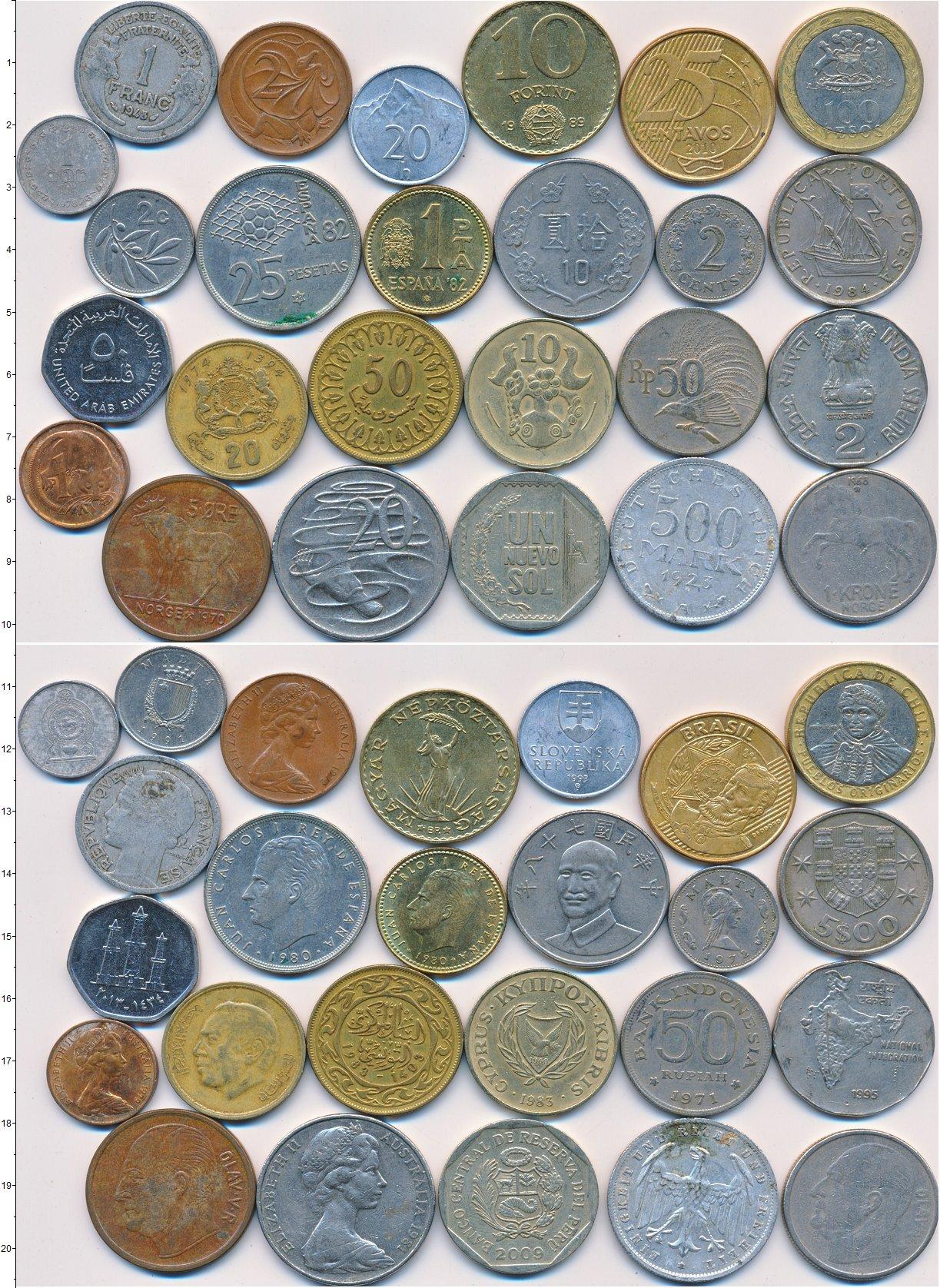 Картинка Лоты монет для начинающих нумизматов Монеты стран мира Лот №01322  0