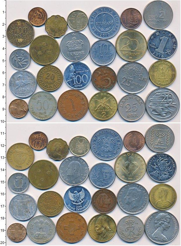 Изображение Лоты монет для начинающих нумизматов Монеты стран мира Лот №01323 0