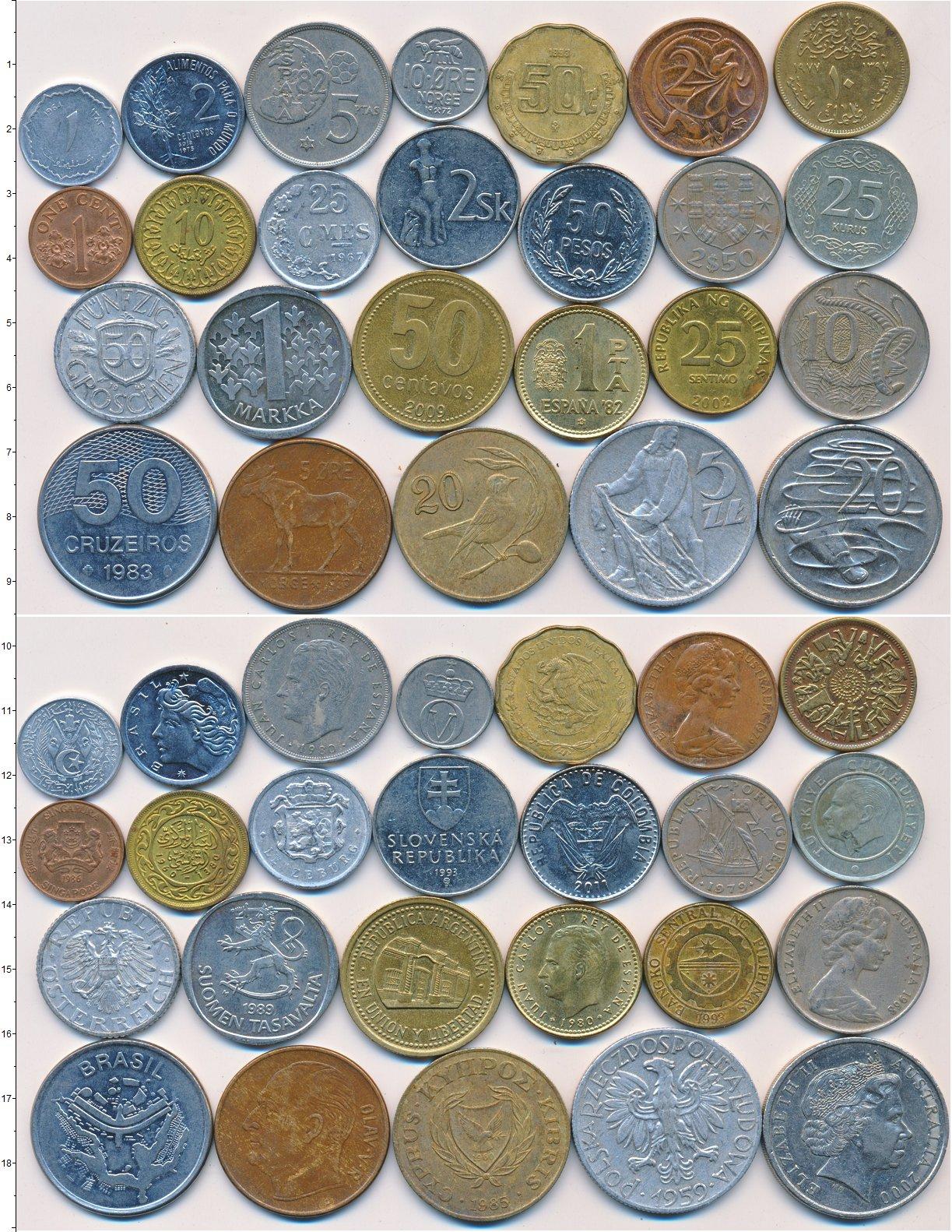 Картинка Лоты монет для начинающих нумизматов Монеты стран мира Лот №01325  0