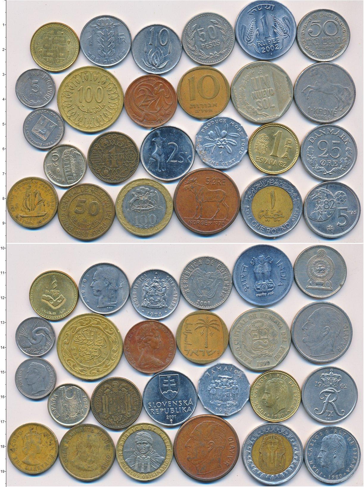 Картинка Лоты монет для начинающих нумизматов Монеты стран мира Лот №01328  0
