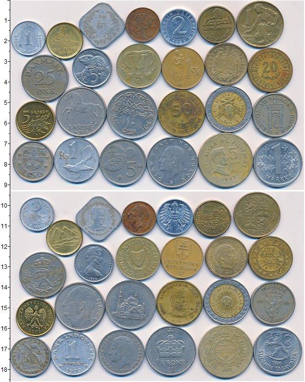 Изображение Лоты монет для начинающих нумизматов Монеты стран мира Лот №01331 0