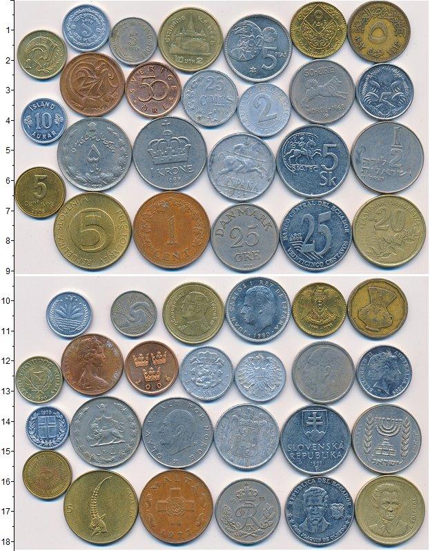 Изображение Лоты монет для начинающих нумизматов Монеты стран мира Лот №01332 0