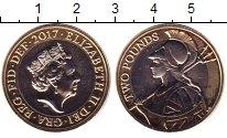 Изображение Монеты Великобритания 2 фунта 2017 Биметалл UNC