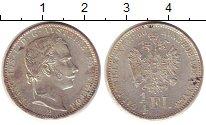 Изображение Монеты Австрия 1/4 флорина 1860 Серебро XF