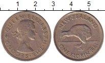 Изображение Монеты Новая Зеландия 1 флорин 1961 Медно-никель XF-