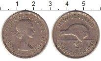 Изображение Монеты Новая Зеландия 1 флорин 1965 Медно-никель XF-