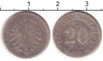 Изображение Монеты Германия 20 пфеннигов 1875 Серебро VF F
