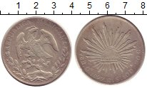 Изображение Монеты Мексика 8 реалов 1897 Серебро XF Солнце