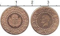 Изображение Монеты Турция 25 куруш 1974 Золото UNC-