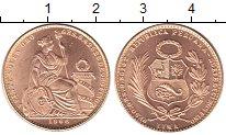 Изображение Монеты Перу 20 соль 1966 Золото UNC КМ# 229 Проба 900. 9