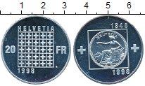 Изображение Монеты Швейцария 20 франков 1998 Серебро Proof 150 - летие  Конфеде