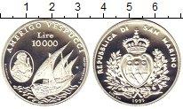 Изображение Монеты Сан-Марино 10000 лир 1995 Серебро Proof