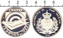 Изображение Монеты Сан-Марино 10000 лир 1999 Серебро Proof