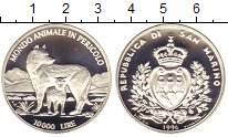 Изображение Монеты Сан-Марино 10000 лир 1996 Серебро Proof