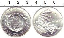 Изображение Монеты Италия 10000 лир 2000 Серебро UNC Милленниум