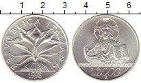 Изображение Монеты Италия 2000 лир 1998 Серебро UNC 2000  лет  Христианс