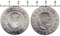 Монета Италия 1 лира Серебро 1999 UNC фото