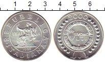 Изображение Монеты Италия 1 лира 2000 Серебро UNC История  итальянской