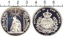 Изображение Монеты Сан-Марино 10000 лир 2000 Серебро Proof Милленниум