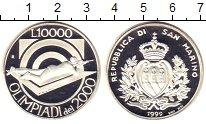 Изображение Монеты Сан-Марино 10000 лир 1999 Серебро Proof Олимпиада 2000.  Стр