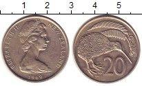 Изображение Монеты Новая Зеландия 20 центов 1969 Медно-никель XF