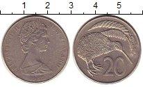 Изображение Монеты Новая Зеландия 20 центов 1985 Медно-никель XF