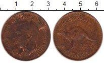 Изображение Монеты Австралия 1 пенни 1951 Бронза XF Георг VI. Кенгуру
