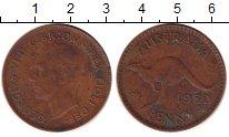 Изображение Монеты Австралия 1 пенни 1952 Бронза XF Георг VI. Кенгуру