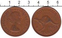 Изображение Монеты Австралия 1 пенни 1958 Бронза XF