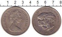 Изображение Монеты Великобритания 25 пенсов 1981 Медно-никель UNC- Елизавета II.  Свадь