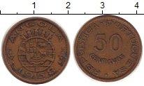 Изображение Монеты Ангола 50 сентаво 1958 Бронза XF