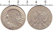 Изображение Монеты Польша 5 злотых 1934 Серебро XF-