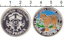 Изображение Монеты Того 500 франков 2001 Серебро Proof