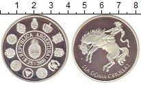 Изображение Монеты Аргентина 25 песо 2000 Серебро Proof Укрощение  необъезже