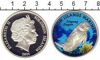 Изображение Монеты Соломоновы острова 10 долларов 2011 Серебро Proof Цифровая  печать.  Е