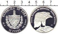Изображение Монеты Куба 10 песо 2007 Серебро Proof Гриф