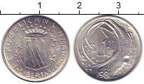 Изображение Монеты Сан-Марино 1 лира 1981 Алюминий XF