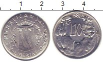 Изображение Монеты Сан-Марино 10 лир 1981 Алюминий XF