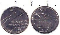 Изображение Монеты Сан-Марино 100 лир 1990 Железо XF