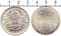 Изображение Монеты Сан-Марино 1000 лир 1997 Серебро UNC- Мужчина и женщина