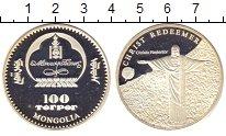 Изображение Монеты Монголия 100 тугриков 2000 Посеребрение Proof-