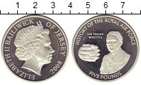 Изображение Монеты Остров Джерси 5 фунтов 2008 Серебро Proof Елизавета II.  Истор