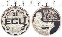 Монета Нидерланды 25 экю Серебро 1990 Proof