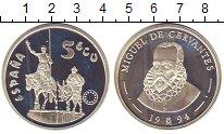 Изображение Монеты Испания 5 экю 1994 Серебро Proof- Мигель де Сервантес