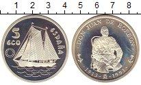 Изображение Монеты Испания 5 экю 1993 Серебро Proof-