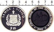 Изображение Монеты Самоа 10 долларов 2002 Серебро Proof